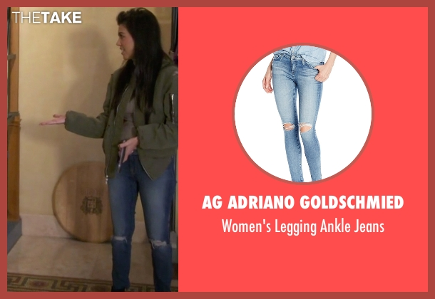 AG Adriano Goldschmied blue jeans from Keeping Up With The Kardashians seen with Kourtney Kardashian