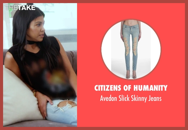 Citizens of Humanity blue jeans from Keeping Up With The Kardashians seen with Kourtney Kardashian