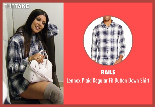 Rails blue shirt from Keeping Up With The Kardashians seen with Kourtney Kardashian