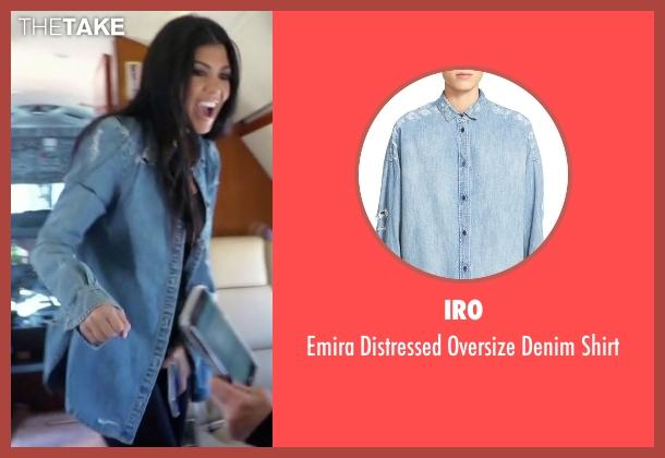 Iro blue shirt from Keeping Up With The Kardashians seen with Kourtney Kardashian