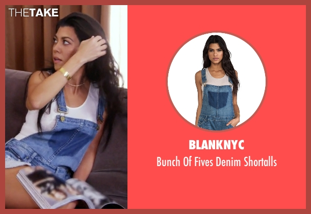 BlankNYC blue shortalls from Keeping Up With The Kardashians seen with Kourtney Kardashian