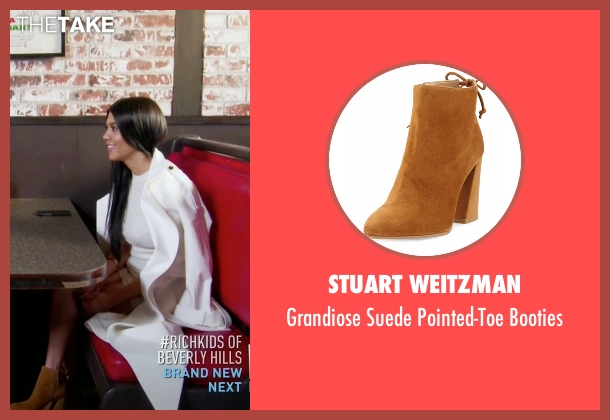 Stuart Weitzman brown booties from Keeping Up With The Kardashians seen with Kourtney Kardashian