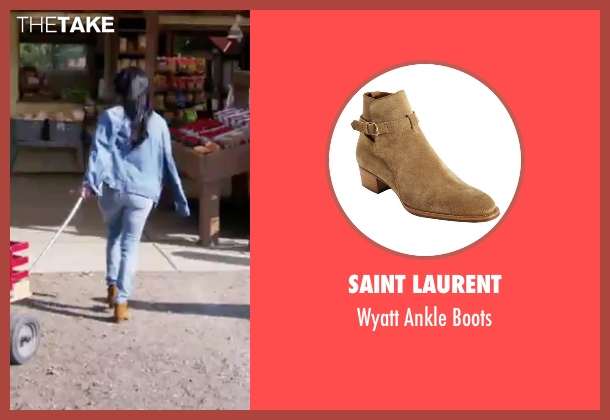 Saint Laurent brown boots from Keeping Up With The Kardashians seen with Kourtney Kardashian