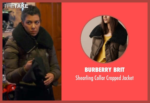 Burberry Brit brown jacket from Keeping Up With The Kardashians seen with Kourtney Kardashian