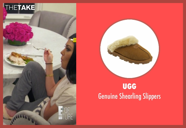 UGG brown slippers from Keeping Up With The Kardashians seen with Kourtney Kardashian
