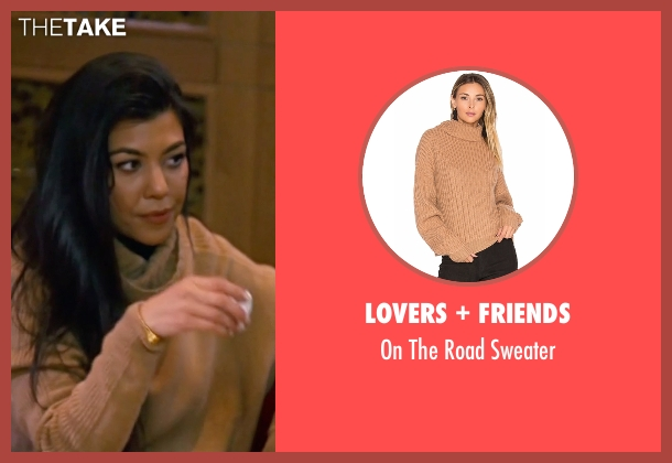 Demylee brown sweater from Keeping Up With The Kardashians seen with Kourtney Kardashian