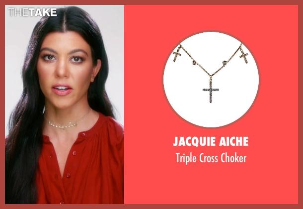 Jacquie Aiche choker from Keeping Up With The Kardashians seen with Kourtney Kardashian