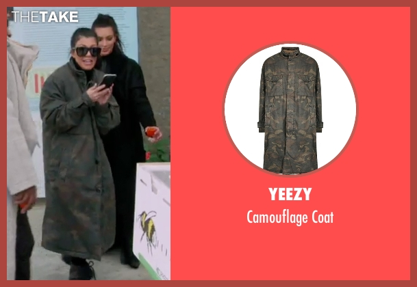 Yeezy coat from Keeping Up With The Kardashians seen with Kourtney Kardashian