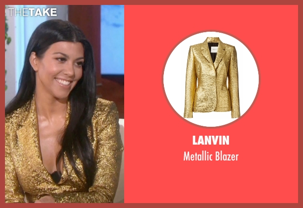 Lanvin gold blazer from Keeping Up With The Kardashians seen with Kourtney Kardashian