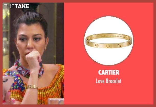 Cartier gold bracelet from Keeping Up With The Kardashians seen with Kourtney Kardashian