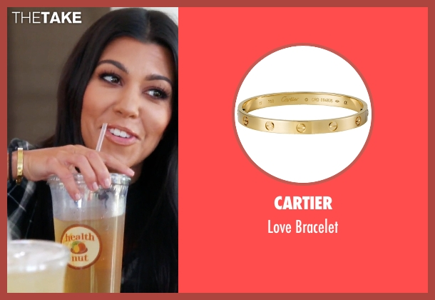 Cartier gold bracelet from Keeping Up With The Kardashians seen with Kourtney Kardashian