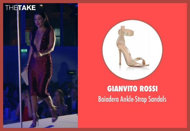 Gianvito Rossi  gold sandals from Keeping Up With The Kardashians seen with Kourtney Kardashian