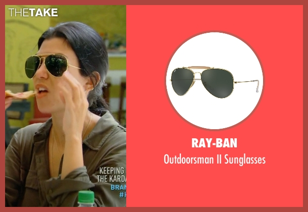 Ray-Ban gold sunglasses from Keeping Up With The Kardashians seen with Kourtney Kardashian