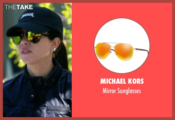 Michael Kors gold sunglasses from Keeping Up With The Kardashians seen with Kourtney Kardashian