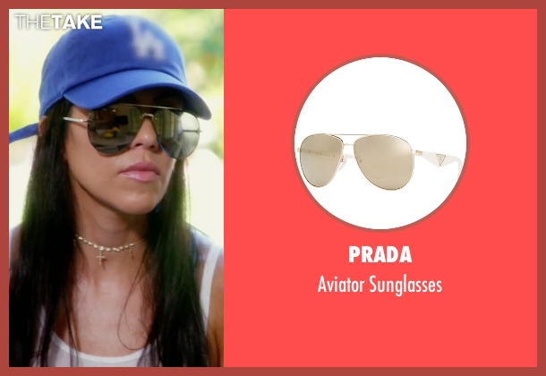 Celine gold sunglasses from Keeping Up With The Kardashians seen with Kourtney Kardashian