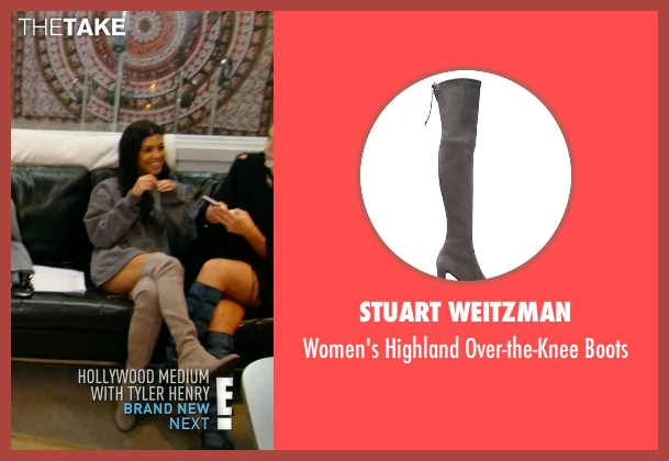 Stuart Weitzman gray boots from Keeping Up With The Kardashians seen with Kourtney Kardashian