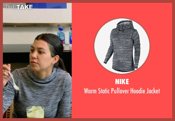 Nike gray jacket from Keeping Up With The Kardashians seen with Kourtney Kardashian