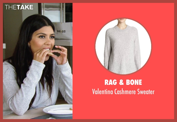 Rag & Bone gray sweater from Keeping Up With The Kardashians seen with Kourtney Kardashian
