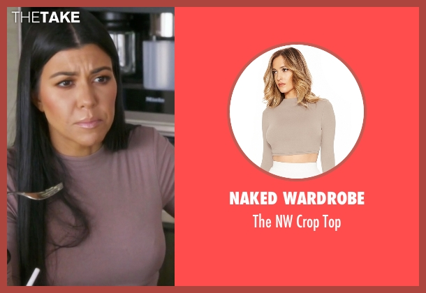 Naked Wardrobe gray top from Keeping Up With The Kardashians seen with Kourtney Kardashian