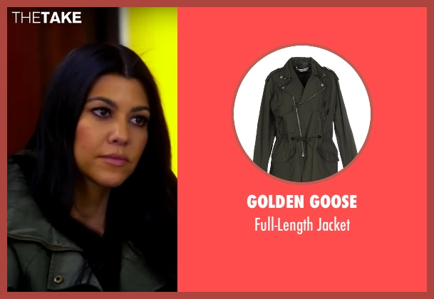 Golden Goose green jacket from Keeping Up With The Kardashians seen with Kourtney Kardashian