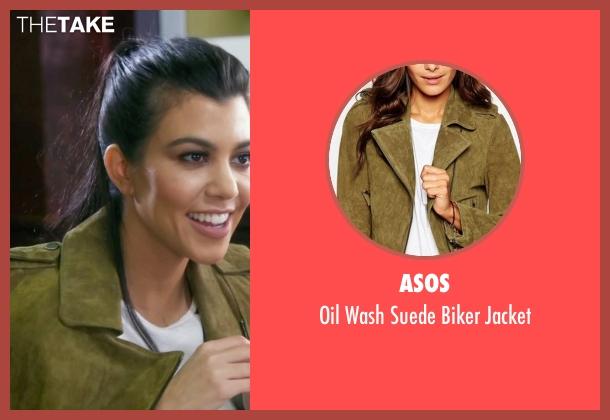 Asos green jacket from Keeping Up With The Kardashians seen with Kourtney Kardashian