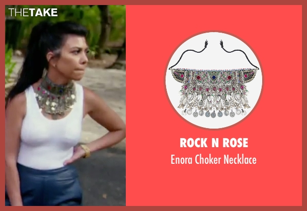 Rock N Rose necklace from Keeping Up With The Kardashians seen with Kourtney Kardashian