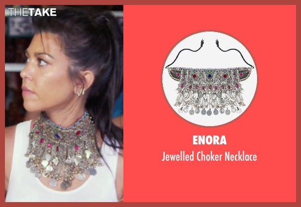Enora necklace from Keeping Up With The Kardashians seen with Kourtney Kardashian