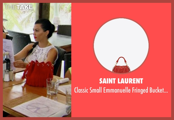 Saint Laurent red bag from Keeping Up With The Kardashians seen with Kourtney Kardashian