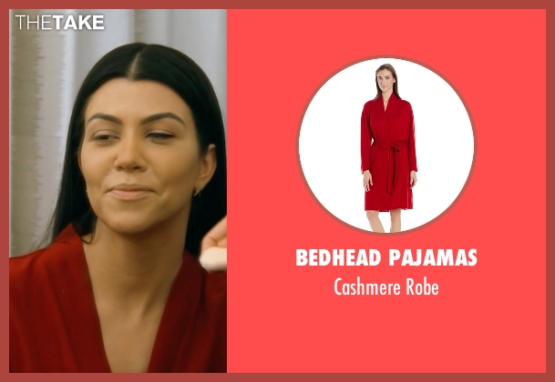 Bedhead Pajamas red robe from Keeping Up With The Kardashians seen with Kourtney Kardashian