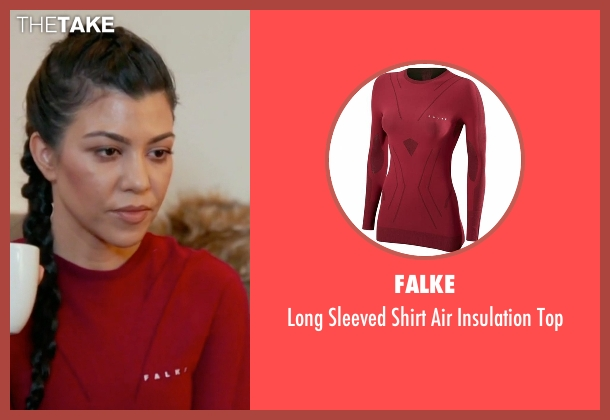 Falke  red top from Keeping Up With The Kardashians seen with Kourtney Kardashian