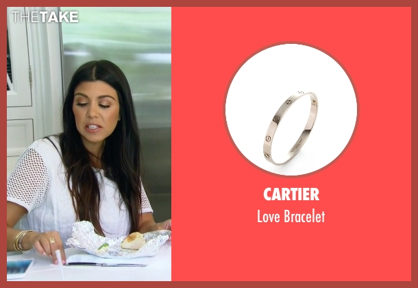 Cartier silver bracelet from Keeping Up With The Kardashians seen with Kourtney Kardashian