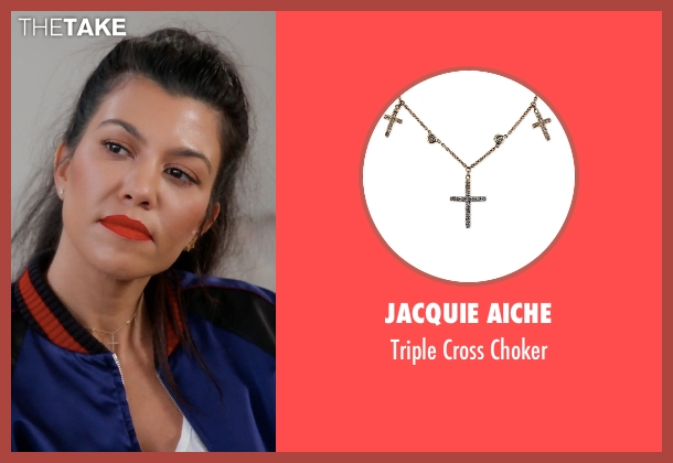 Jacquie Aiche silver choker from Keeping Up With The Kardashians seen with Kourtney Kardashian