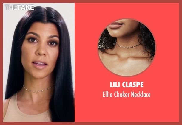 Lili Claspe silver necklace from Keeping Up With The Kardashians seen with Kourtney Kardashian