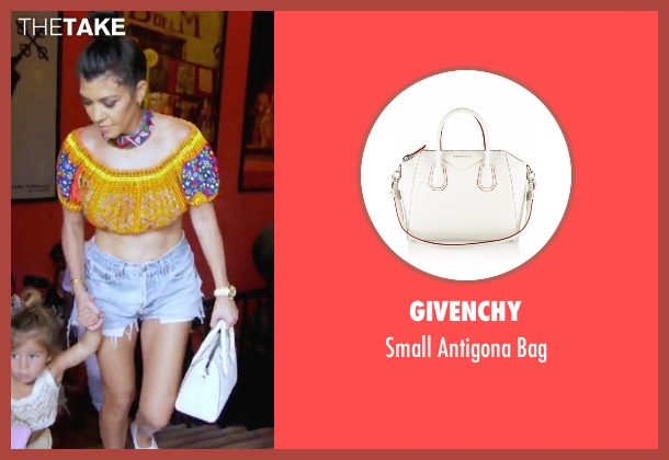 Givenchy white bag from Keeping Up With The Kardashians seen with Kourtney Kardashian