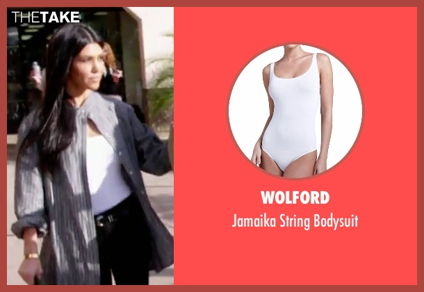 Wolford white bodysuit from Keeping Up With The Kardashians seen with Kourtney Kardashian