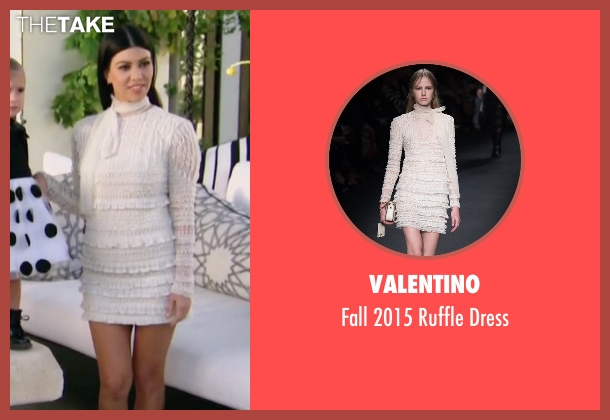 Valentino white dress from Keeping Up With The Kardashians seen with Kourtney Kardashian