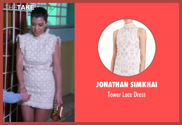 Jonathan Simkhai white dress from Keeping Up With The Kardashians seen with Kourtney Kardashian