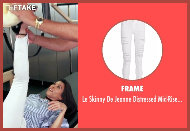 Frame white jeans from Keeping Up With The Kardashians seen with Kourtney Kardashian
