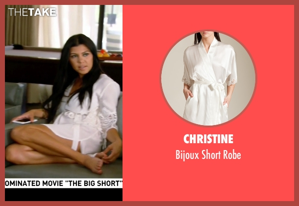 Christine white robe from Keeping Up With The Kardashians seen with Kourtney Kardashian