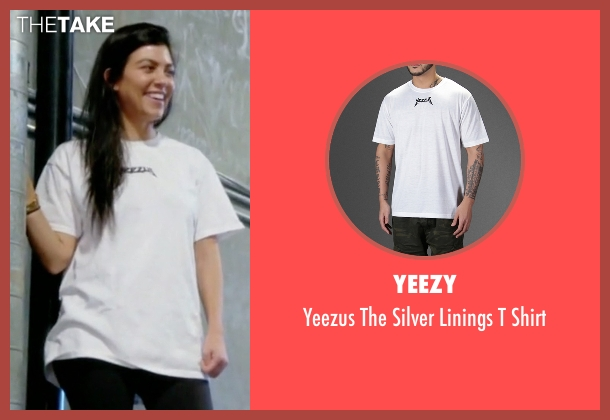 Yeezy white shirt from Keeping Up With The Kardashians seen with Kourtney Kardashian