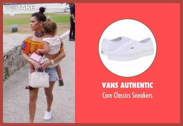 Vans Authentic white sneakers from Keeping Up With The Kardashians seen with Kourtney Kardashian