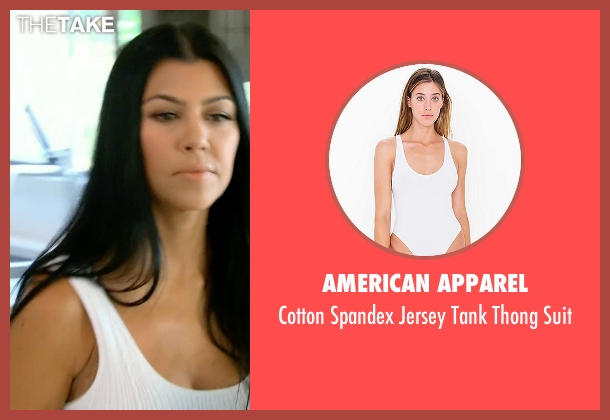 American Apparel white suit from Keeping Up With The Kardashians seen with Kourtney Kardashian