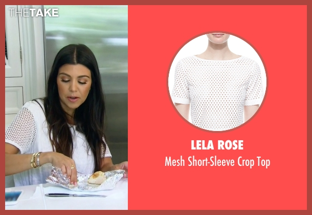 Lela Rose white top from Keeping Up With The Kardashians seen with Kourtney Kardashian