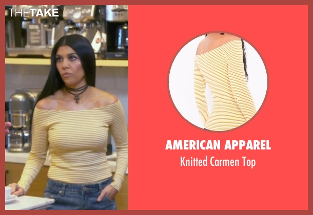 American Apparel white top from Keeping Up With The Kardashians seen with Kourtney Kardashian