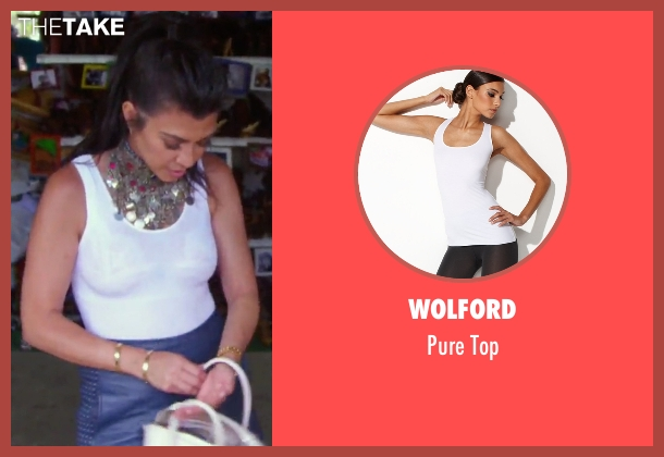Wolford white top from Keeping Up With The Kardashians seen with Kourtney Kardashian