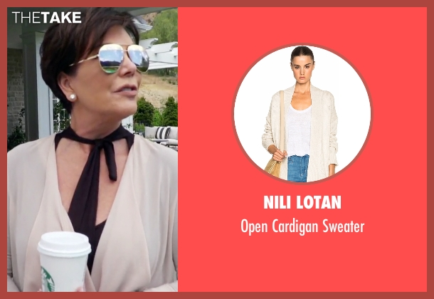 Nili Lotan beige sweater from Keeping Up With The Kardashians seen with Kris Jenner