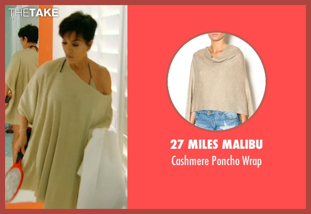 27 Miles Malibu beige wrap from Keeping Up With The Kardashians seen with Kris Jenner