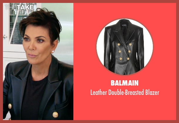 Balmain black blazer from Keeping Up With The Kardashians seen with Kris Jenner
