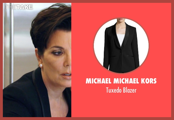 Michael Michael Kors black blazer from Keeping Up With The Kardashians seen with Kris Jenner