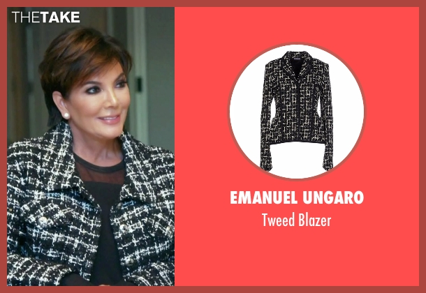 Emanuel Ungaro black blazer from Keeping Up With The Kardashians seen with Kris Jenner